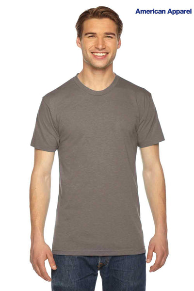 American Apparel TR401 Coffee Brown USA Made Track Triblend Short Sleeve Crewneck T-Shirt Front