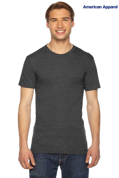 American Apparel TR401W Black Track Triblend Short Sleeve Crewneck T-Shirt Front