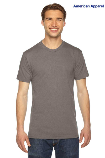 American Apparel TR401W Coffee Brown Track Triblend Short Sleeve Crewneck T-Shirt Front