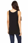 Bella + Canvas 6488 Black Cotton Jersey Relaxed Tank Top Back
