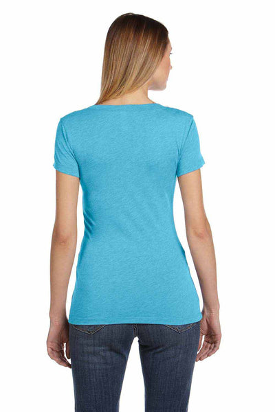 Bella + Canvas B8413 Aqua Blue Triblend Short Sleeve Crewneck T-Shirt Back