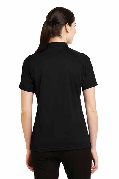 CornerStone CS411 Black Select Snag Proof Polyester Tactical Short Sleeve Polo Shirt Back