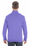 Devon & Jones DG478 Purple Manchester Fully Fashioned Cotton Long Sleeve Sweater Back