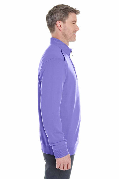 Devon & Jones DG478 Purple Manchester Fully Fashioned Cotton Long Sleeve Sweater Side