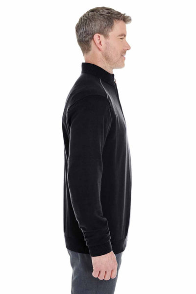 Devon & Jones DG478 Black Manchester Fully Fashioned Cotton Long Sleeve Sweater Side