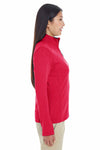 Devon & Jones DG479W Red DRYTEC20 Performance Cotton Sweatshirt Side