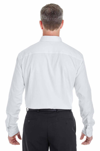 Devon & Jones DG532 White Crown Collection Royal Dobby Blend Long Sleeve Button Down Shirt Back