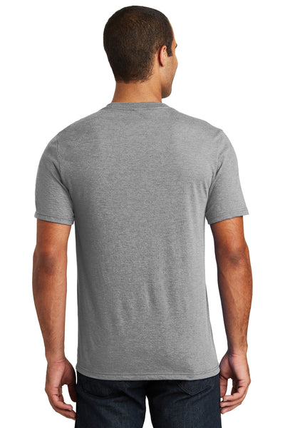 District DT1350 Grey Frost Perfect Triblend Short Sleeve V-Neck T-Shirt Back