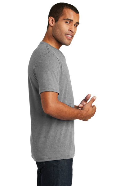 District DT1350 Grey Frost Perfect Triblend Short Sleeve V-Neck T-Shirt Side