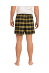 District DT1801 Gold Cotton Flannel Plaid Boxer Shorts Back