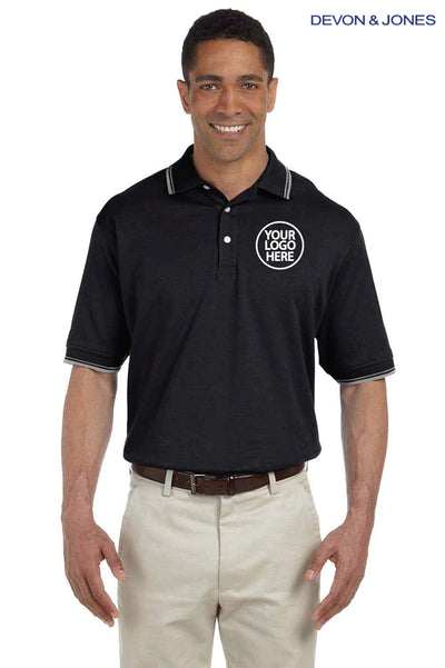 Devon & Jones D140 Black  Logo