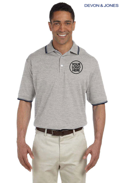Devon & Jones D140 Heather Grey  Logo