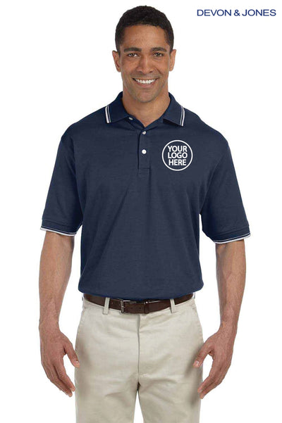 Devon & Jones D140 Navy Blue  Logo