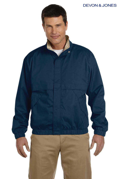 Devon & Jones D850 Navy Blue Clubhouse Blend Jacket Front