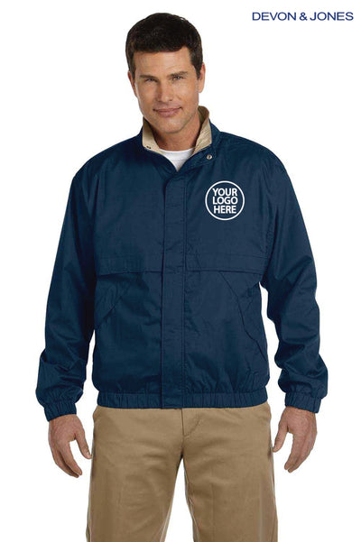 Devon & Jones D850 Navy Blue  Logo