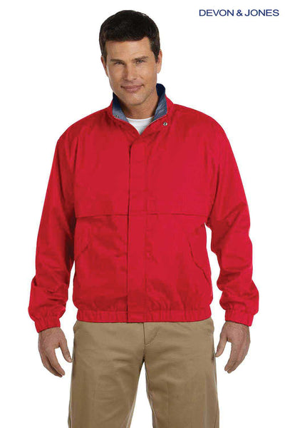Devon & Jones D850 Red Clubhouse Blend Jacket Front