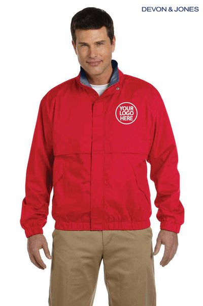 Devon & Jones D850 Red Clubhouse Blend Jacket Logo
