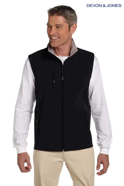 Devon & Jones D996 Black Polyester Soft Shell Vest Front