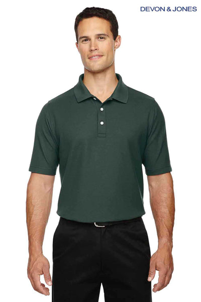 Devon & Jones DG150 Forest Green DryTec20 Performance Cotton Short Sleeve Polo Shirt Front