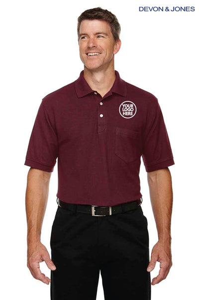 Devon & Jones DG150P Burgundy  Logo