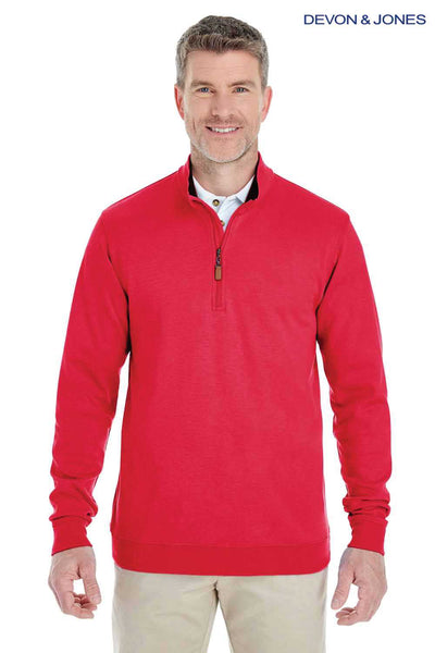 Devon & Jones DG479 Red DRYTEC20 Performance Cotton Sweatshirt Front