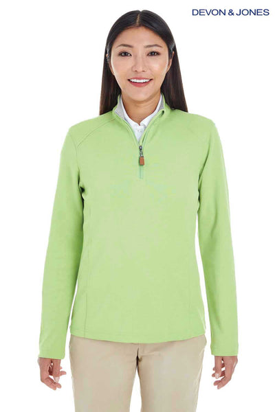 Devon & Jones DG479W Lime Green DRYTEC20 Performance Cotton Sweatshirt Front
