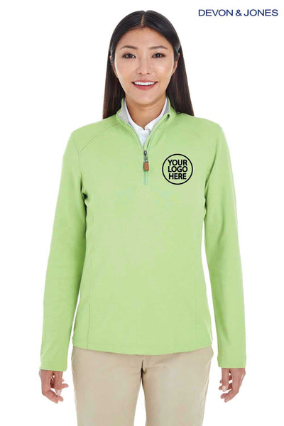 Devon & Jones DG479W Lime Green  Embroidery