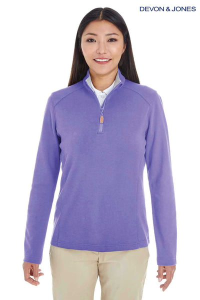 Devon & Jones DG479W Purple DRYTEC20 Performance Cotton Sweatshirt Front