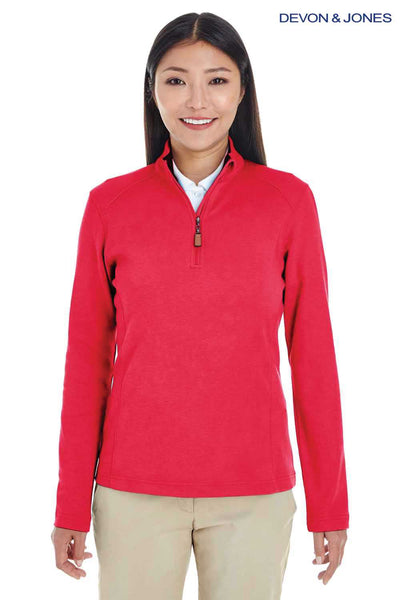 Devon & Jones DG479W Red DRYTEC20 Performance Cotton Sweatshirt Front