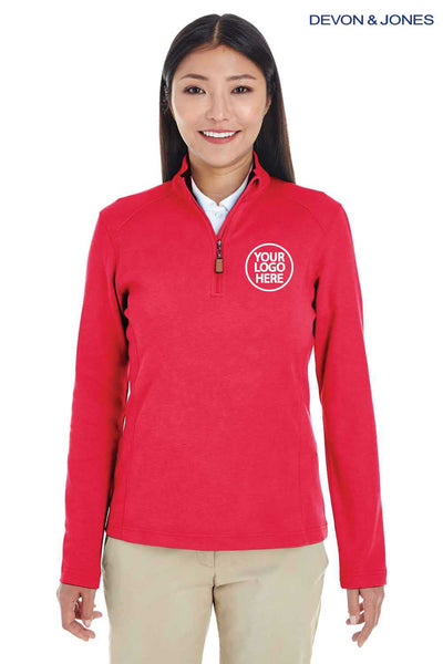 Devon & Jones DG479W Red DRYTEC20 Performance Cotton Sweatshirt Embroidery