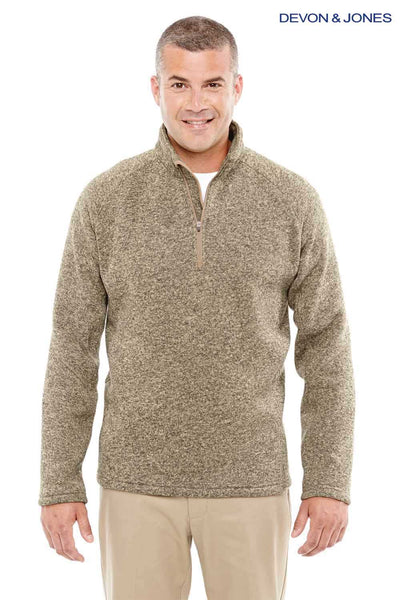 Devon & Jones DG792 Khaki Brown Bristol Sweater Fleece Sweatshirt Front