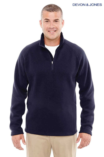 Devon & Jones DG792 Navy Blue Bristol Sweater Fleece Sweatshirt Front