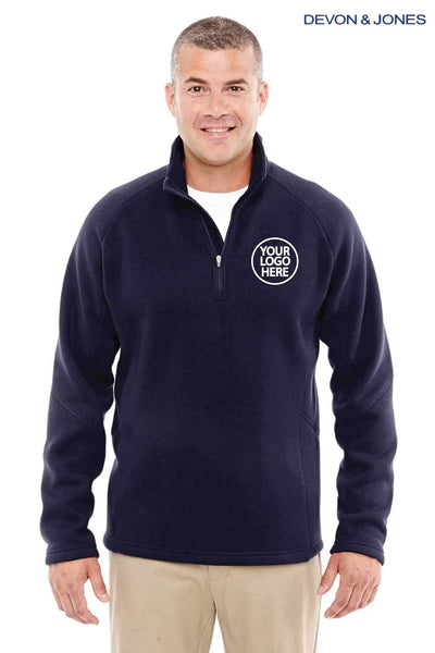 Devon & Jones DG792 Navy Blue Bristol Sweater Fleece Sweatshirt Embroidery