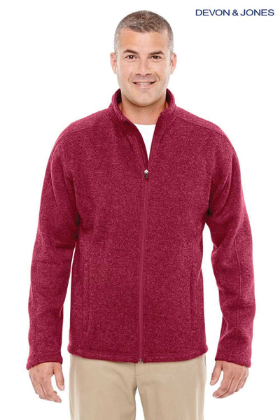 Devon & Jones DG793 Red Bristol Sweater Fleece Sweatshirt Front