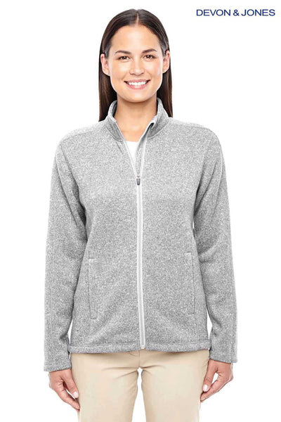 Devon & Jones DG793W Grey Bristol Sweater Fleece Sweatshirt Front
