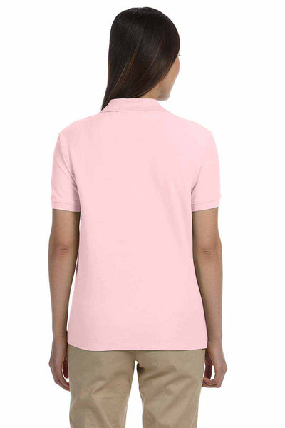 Devon & Jones D100W Pink Pima Cotton Pique Short Sleeve Polo Shirt Back