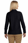 Devon & Jones D110W Black Pima Cotton Pique Long Sleeve Polo Shirt Back