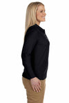 Devon & Jones D110W Black Pima Cotton Pique Long Sleeve Polo Shirt Side