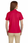 Devon & Jones D112W Red Pima Cotton Pique Short Sleeve Polo Shirt Back