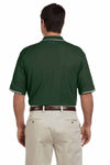Devon & Jones D113 Forest Green Pima Cotton Pique Tipped Short Sleeve Polo Shirt Back