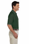 Devon & Jones D113 Forest Green Pima Cotton Pique Tipped Short Sleeve Polo Shirt Side