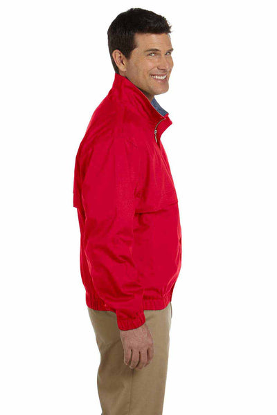 Devon & Jones D850 Red Clubhouse Blend Jacket Side