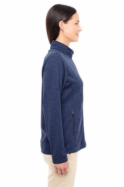 Devon & Jones D885W Heather Navy Blue Fairfield Herringbone Polyester Jacket Side