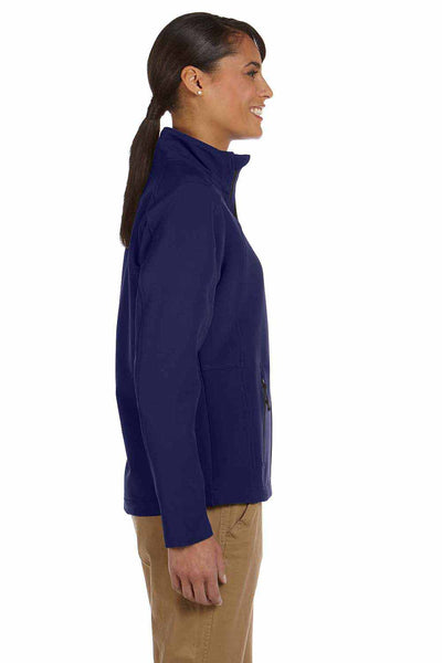 Devon & Jones D945W Navy Blue Doubleweave Tech Shell Duplex Blend Jacket Side