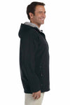 Devon & Jones D998 Black Polyester Soft Shell Hooded Jacket Side