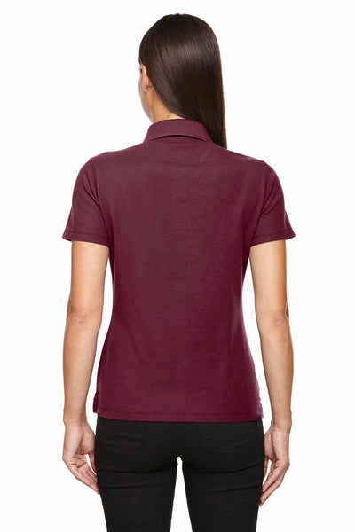 Devon & Jones DG150W Burgundy DryTec20 Performance Cotton Short Sleeve Polo Shirt Back