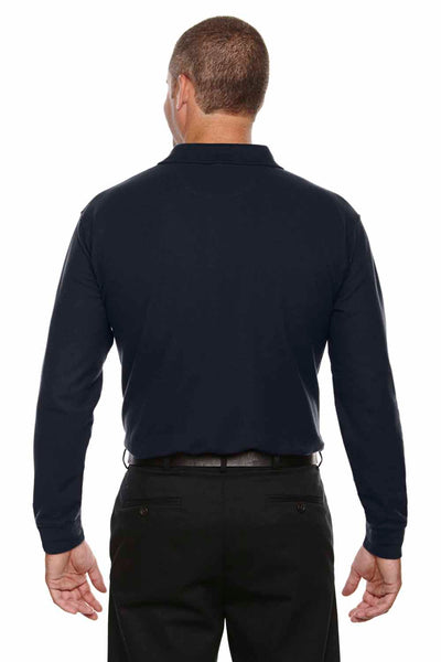 Devon & Jones DG170 Navy Blue DryTec20 Performance Cotton Long Sleeve Polo Shirt Back