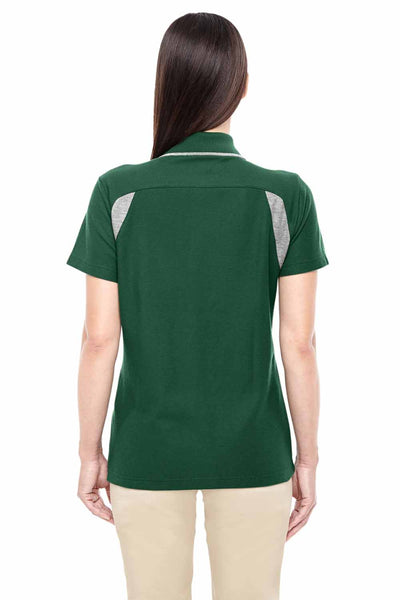 Devon & Jones DG180W Forest Green/Grey DryTec20 Performance Cotton Colorblock Short Sleeve Polo Shirt Back