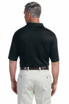 Devon & Jones DG200 Black Pima Tech Jet Pique Blend Short Sleeve Polo Shirt Back