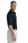 Devon & Jones DG200 Black Pima Tech Jet Pique Blend Short Sleeve Polo Shirt Side